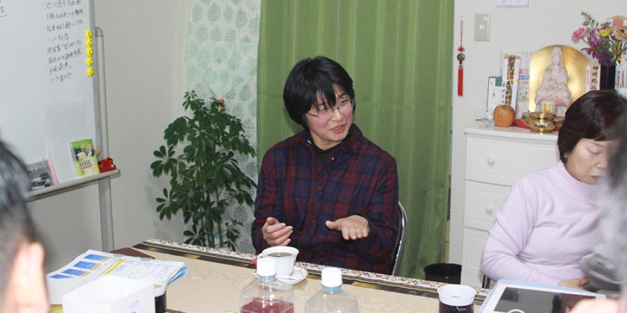 首にあかぎれがあった眞紀さん|株式会社アリッジ