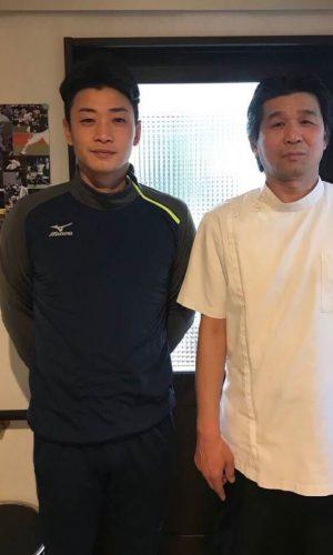 中日ドラゴンズ松井雅人選手と荻野先生